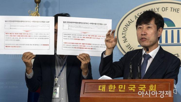 [포토] 하태경, 일본이 북한의 밀반출한 전략물자 공개