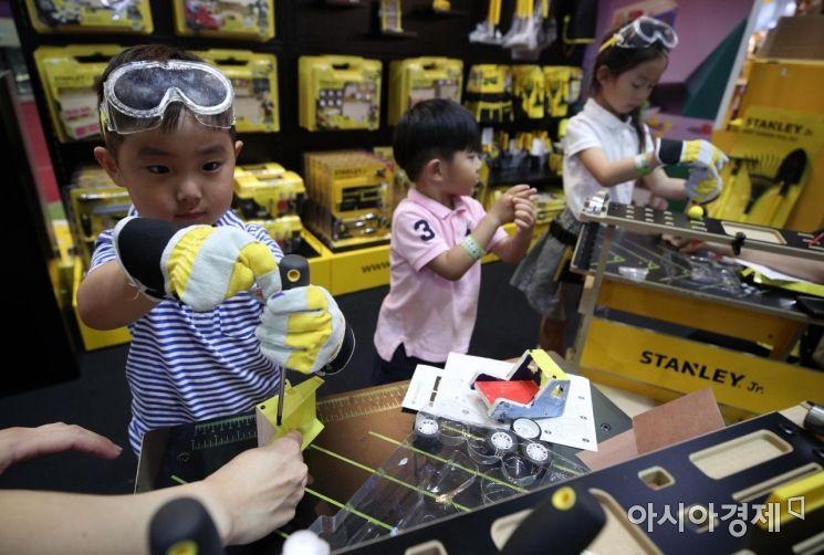 [포토] 유아용 공구로 직접 만드는 장난감