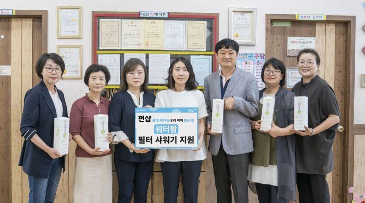 CJ 오쇼핑, '붉은 수돗물' 피해 입은 인천에 필터 샤워기 후원