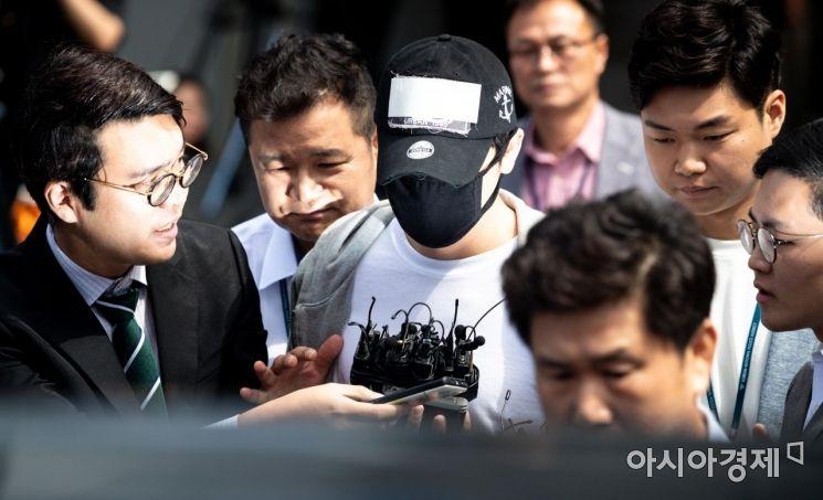 [포토]분당경찰서 나서는 배우 강지환