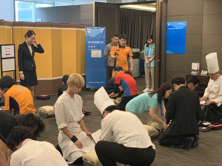 광주 서부소방서, 대형숙박시설 심폐소생술 교육