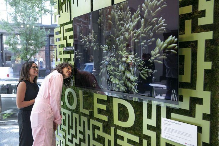 LG전자, 뉴욕 맨해튼에 '카페 올레드'…컬러 체험 마케팅