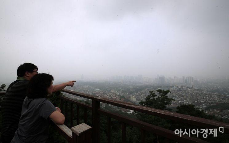 [포토] 잔뜩 흐린 서울 하늘