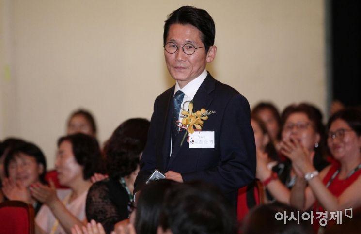 [포토] 대한간호조무사협회 창립 46주년 기념식 참석한 윤소하