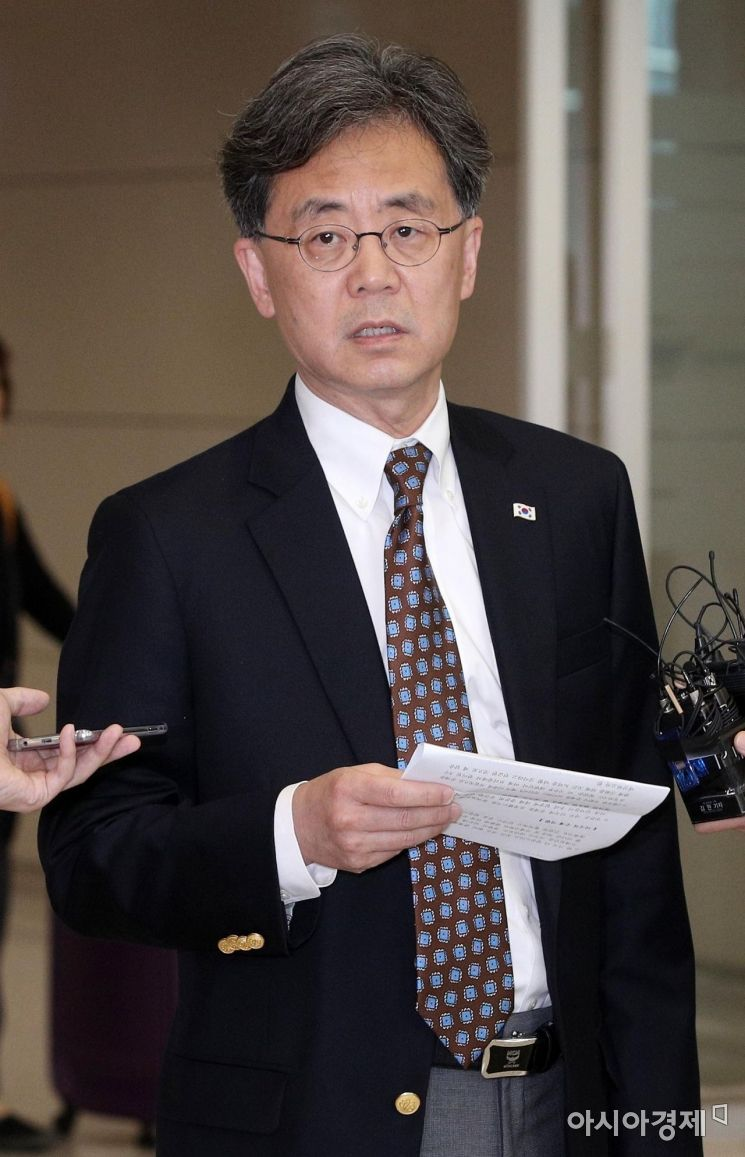 [포토] 방미 결과 설명하는 김현종 차장