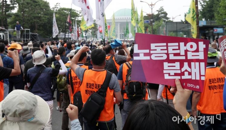 [포토] '노동탄압 분쇄'