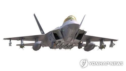 방위사업청이 제공한 한국형 전투기 'KF-X' 전면부 기본설계 형상 모습. 사진=연합뉴스