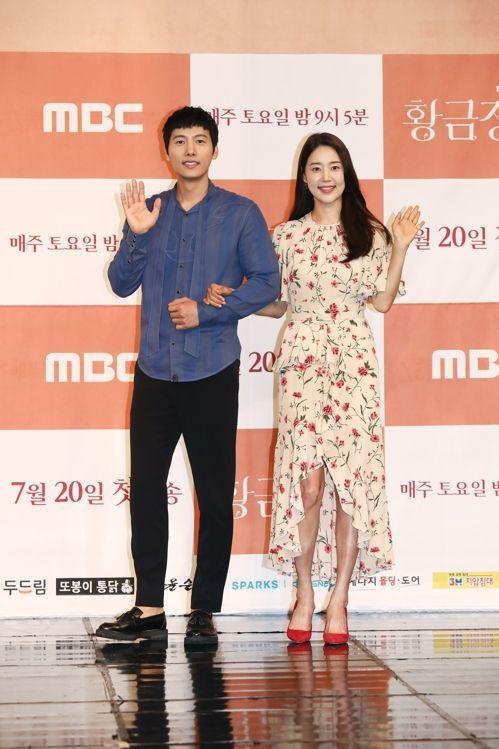 드라마 '황금정원'에서 호흡을 맞추게 된 이상우와 한지혜 / 사진 = MBC 제공