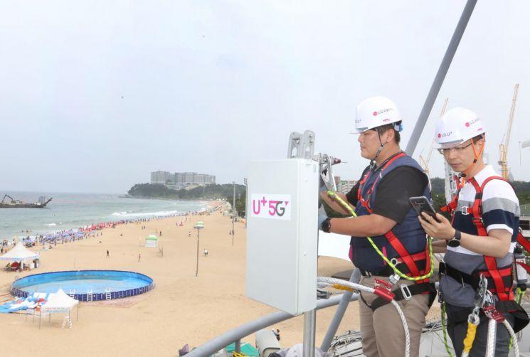 LGU+, 해수욕장 등 전국 휴가지 5G 기지국 구축 박차