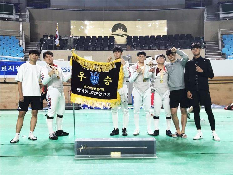 풍암고 펜싱부, 창단이래 전국대회 첫 '우승'
