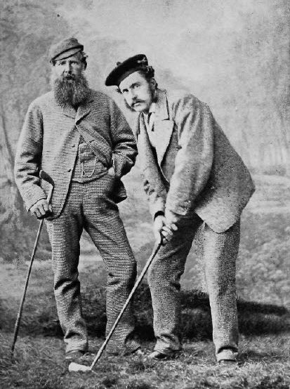 159년 디오픈 역사상 최고의 스타 톰 모리스 시니어와 주니어 부자(父子). 아버지 4승과 아들 4승 등 통산 8승을 합작했다.
