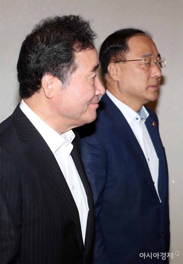 [포토]국무회의 향하는 총리와 부총리
