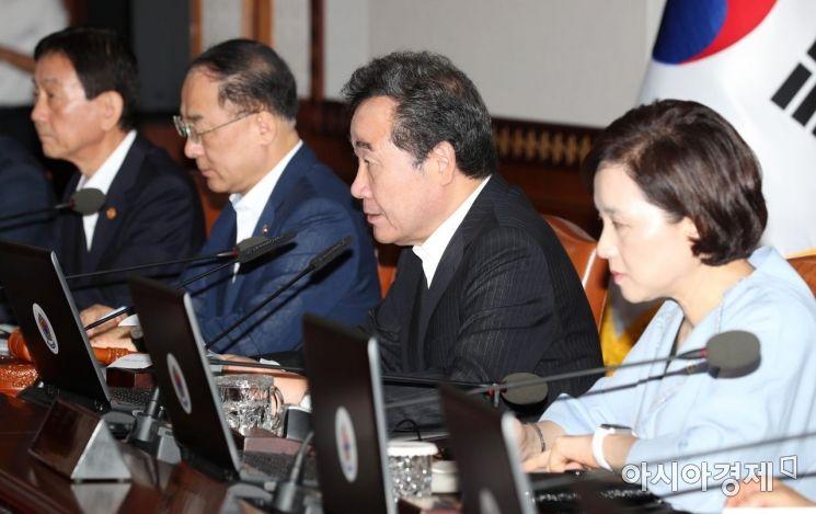 [포토]이낙연 총리 주재 국무회의