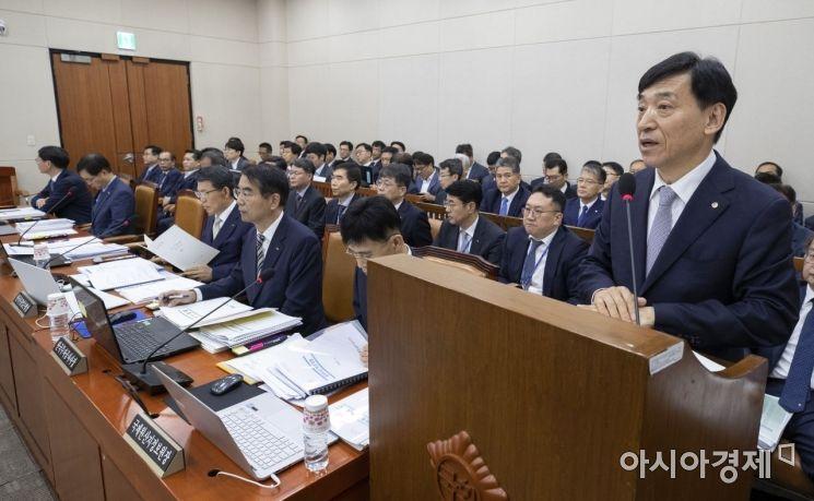 [포토] 이주열 총재, 국회 기재위 한국은행 업무보고