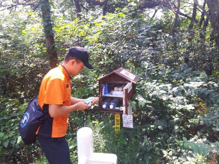 광주 북부소방서, 주요 등산로 '산악구급함' 점검