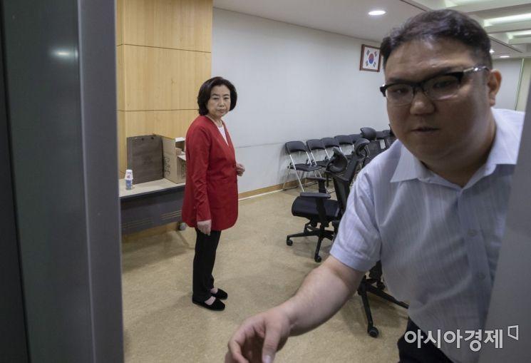 [포토] 당 윤리위 참석하는 박순자 의원