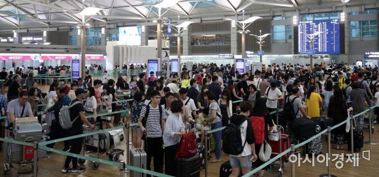 [포토] 인파로 북적이는 인천공항