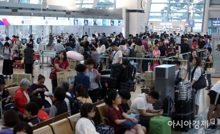 [포토] 북적이는 인천공항