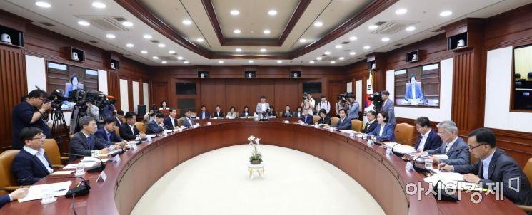 [포토]유은혜 부총리 주재 사회관계장관회의