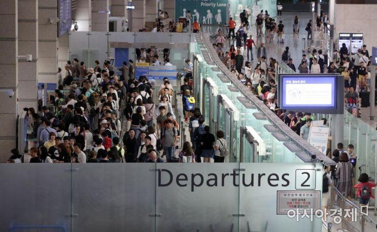 [포토] 북적이는 국제선 탑승구