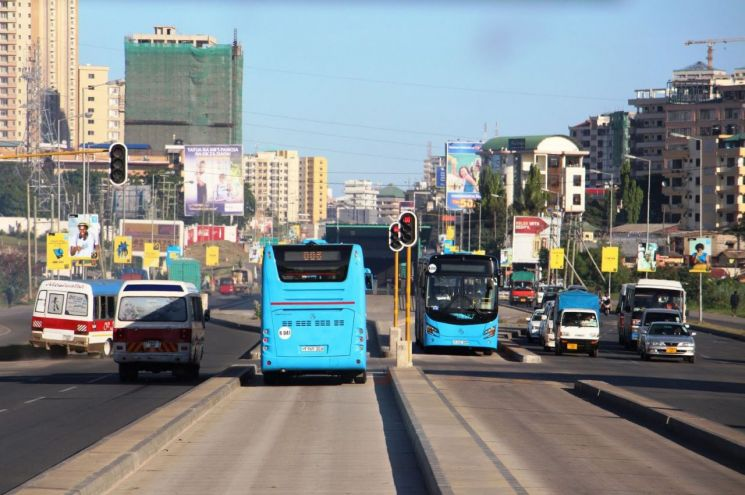 탄자니아 BRT 1단계 사업 운영 현장 /