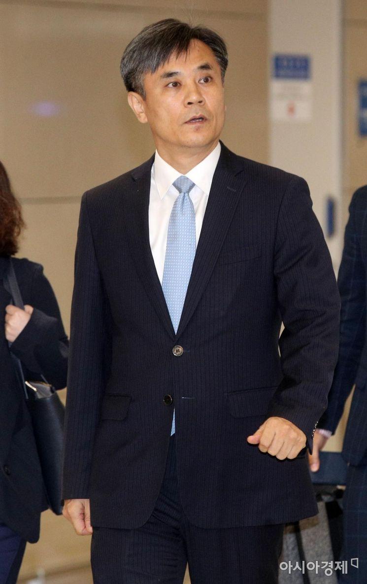 [포토] WTO 일정 마치고 귀국하는 김승호 실장