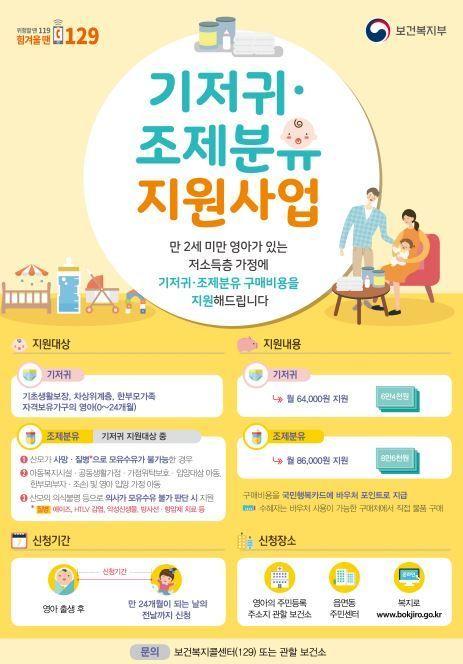 강북구, 저소득 구민 대상 기저귀·분유 지원