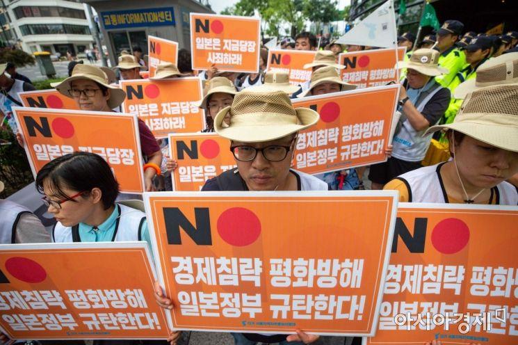 [포토]일본 정부 규탄하는 자주통일선봉대