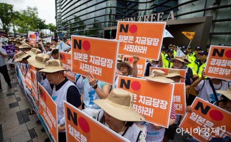 [포토]자주통일선봉대, 일본 정부 규탄 기자회견