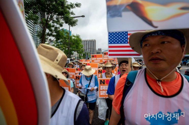 [포토]행진하는 자주통일선봉대