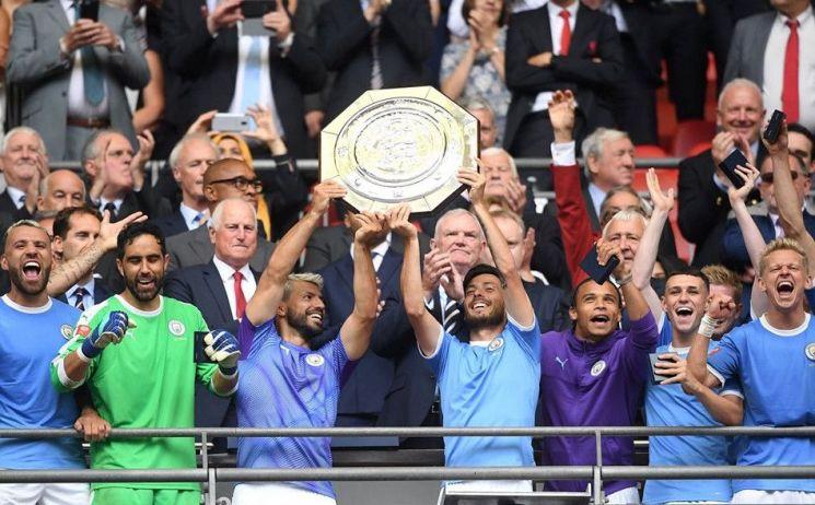 맨체스터 시티는 5일(한국시간) 영국 런던의 웸블리 스타디움에서 열린 리버풀과의 '2019 잉글랜드축구협회(FA) 커뮤니티실드'에서 리버풀을 누르고 커뮤니티 실드 우승을 차지했다./사진=맨체스터 시티 SNS 캡처