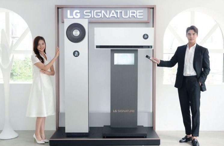 LG전자가 5일 超프리미엄 에어컨인 LG 시그니처(LG SIGNATURE) 에어컨을 출시했다.