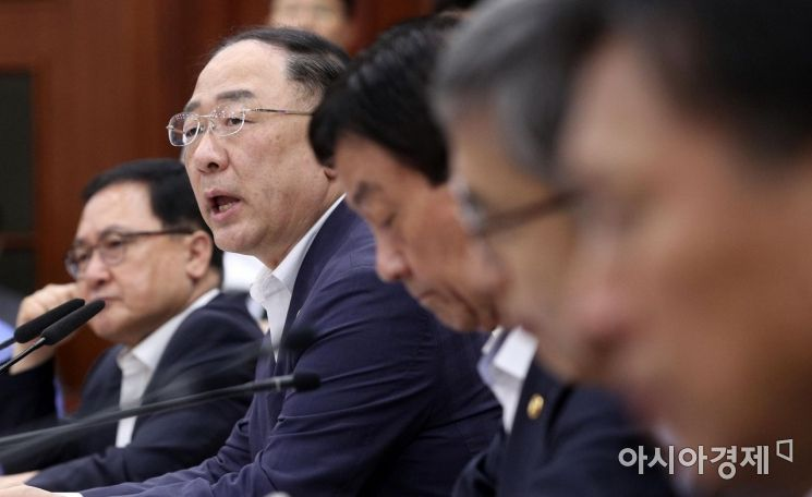 [포토] 수출규제 대응회의 발언하는 홍남기