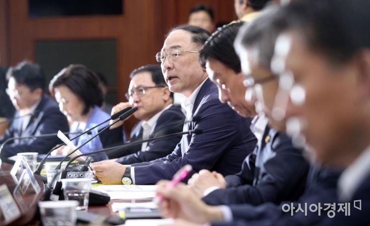 [포토] 홍남기 부총리, 日 수출규제 대응 회의 주재