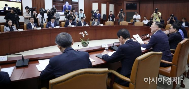 [포토] 홍남기, 수출규제 대응회의 주재