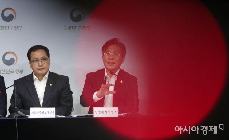 [포토] 경쟁력 강화대책 발표하는 성윤모 장관