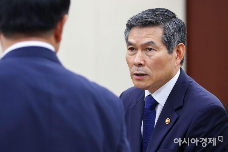 [포토]정경두 장관, 국회 국방위원회 참석