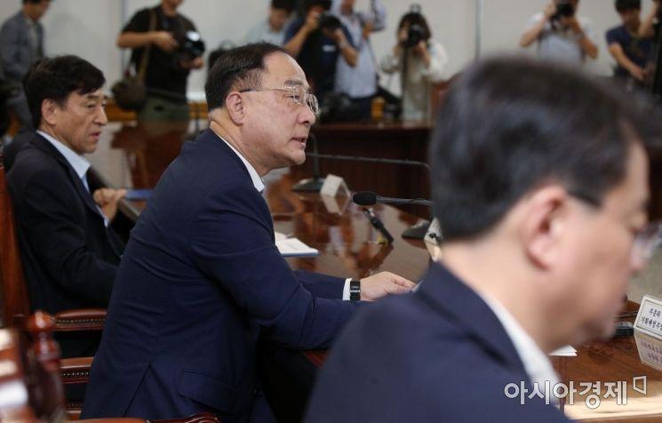 [포토] 거시경제금융회의 주재하는 홍남기 부총리
