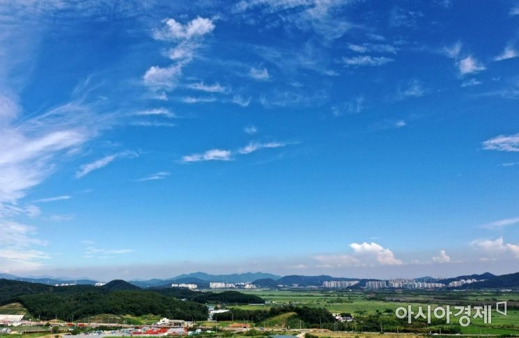 [포토]'파란 가을 하늘이 왔어요!'