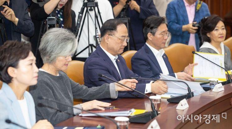 [포토]회의 준비하는 홍남기 경제부총리