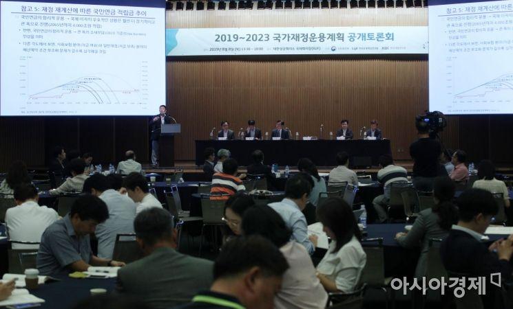 [포토] 기재부, 2019~2023 국가재정운용계획 공개토론회