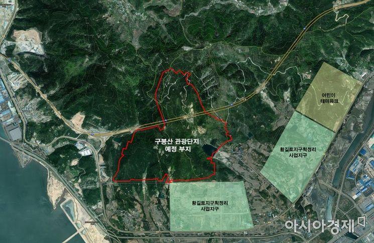 광양 구봉산 관광단지 예정 부지(사진=광양시 제공)