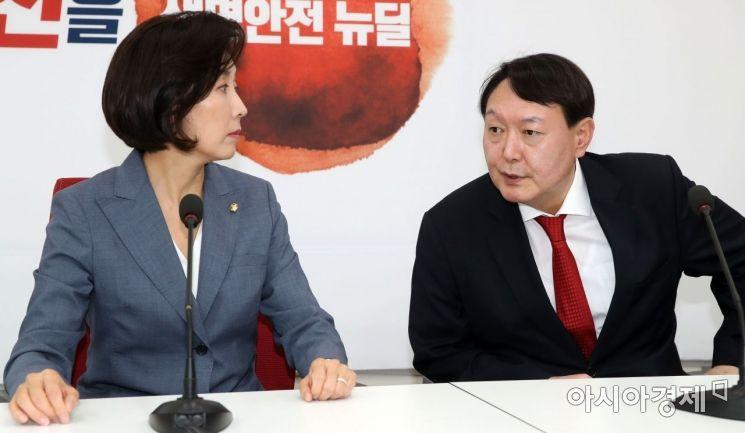 [포토] 나경원 원내대표 찾은 윤석열 총장