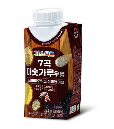 파스퇴르, 프리바이오틱스 함유해 더욱 건강한 '7곡 미숫가루우유' 출시