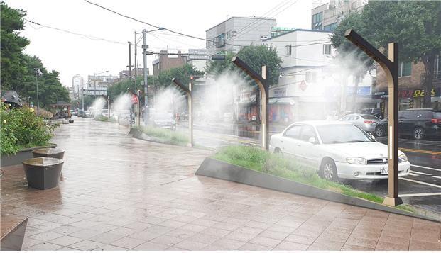 중화수경공원에 설치 예정인 쿨링포그