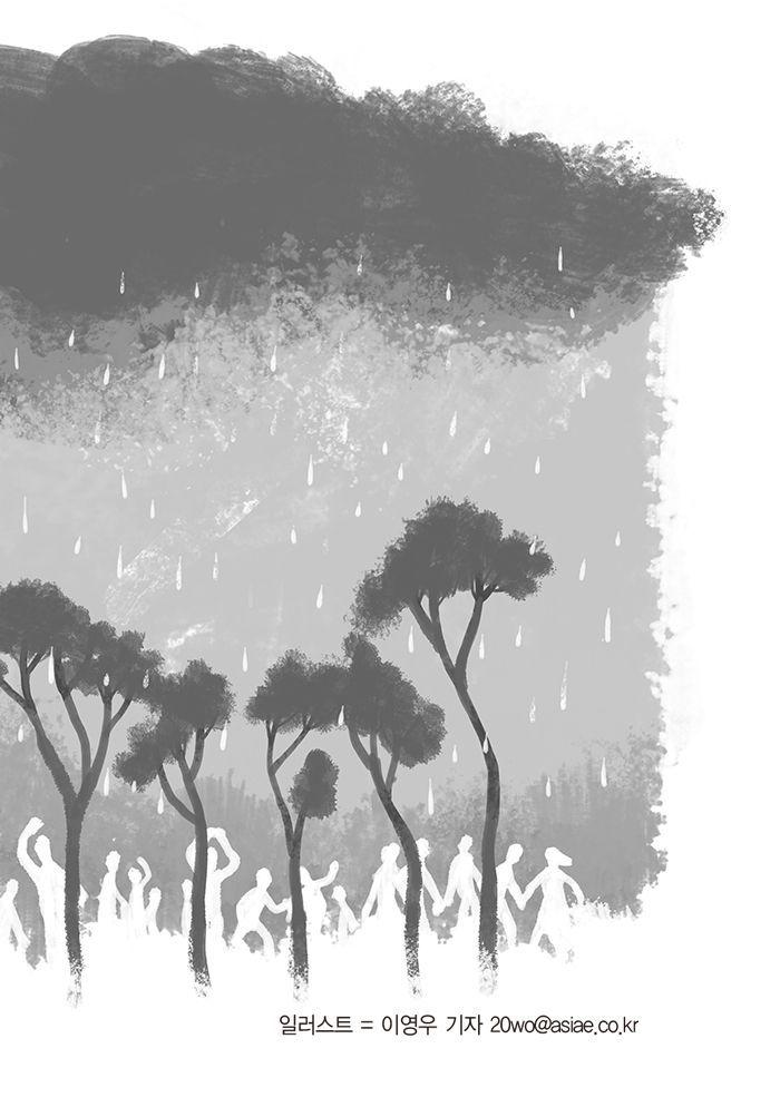 [윤재웅의 행인일기 55] 보르게세 공원의 소나기 속에서