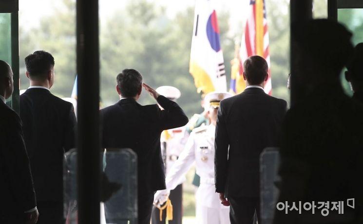 [포토]국방부 의장대 사열