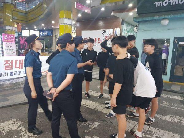 광주 광산경찰 '학교폭력 근절 아웃리치 홍보' 전개