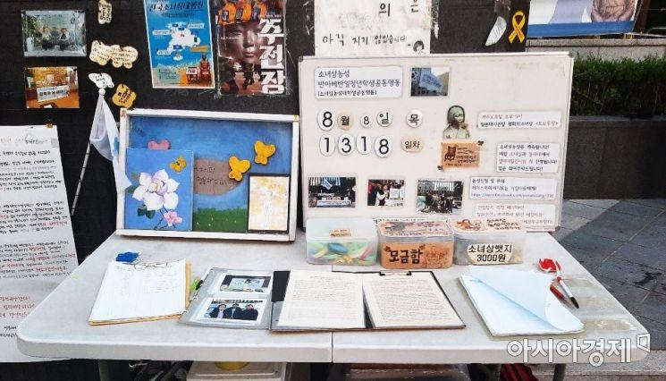 8일 오후 서울 종로구 옛 일본대사관 앞 소녀상.사진=한승곤 기자 hsg@asiae.co.kr