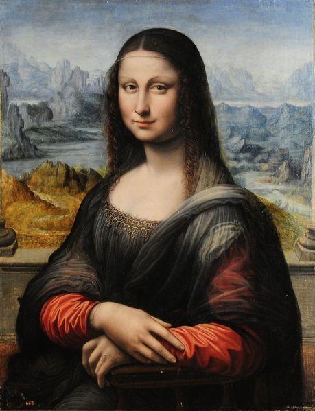 프라도 미술관이 소장하고 있는 모나리자. 레오나르도가 그린 밑그림에 그의 제자가 덧칠한 그림으로 판정됐습니다. [사진=위키피디아]